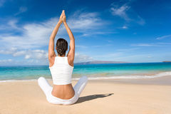 Yoga del loto Foto de archivo libre de regalías