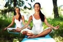 Yoga del loto Fotografía de archivo libre de regalías