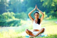 Yoga del loto Fotos de archivo libres de regalías