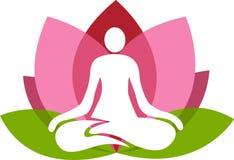 Yoga del loto illustrazione vettoriale