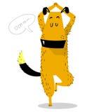Yoga del perro Aptitud del perro Sropty y forma de vida sana para el animal doméstico ilustración del vector
