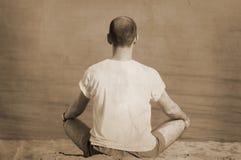 Yoga dell'annata fotografia stock libera da diritti