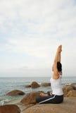 yoga dell'attrezzo ginnico Fotografia Stock Libera da Diritti
