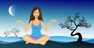 Yoga della donna Fotografia Stock