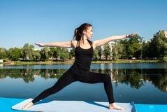 Yoga della donna Immagini Stock