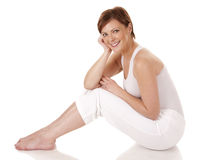 Yoga della donna Immagine Stock Libera da Diritti