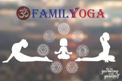 Yoga della famiglia royalty illustrazione gratis