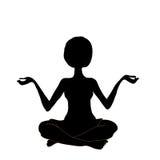 Yoga della siluetta, vettore Fotografia Stock Libera da Diritti