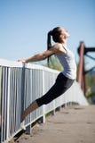 Yoga della via: backbend Fotografia Stock Libera da Diritti