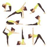 Yoga in der Natur lizenzfreie abbildung