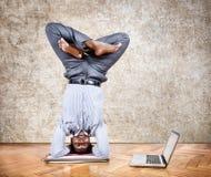 Yoga des lustigen Geschäfts Stockfotografie