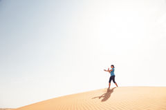 Yoga In The Desert Stock Photos