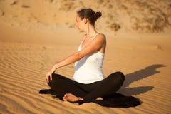Yoga in the desert Stock Image
