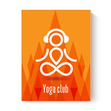 Yoga design concept. Flyer card or visitcard template Royalty Free Stock Photography