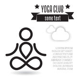 Yoga design concept Stock Photo