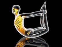 Yoga - Dhanurasana Royalty Free Stock Photo