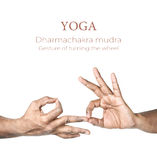 Yoga Dharmachakra mudra Stock Photo