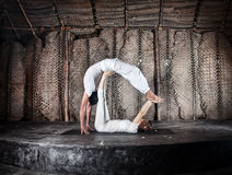 Yoga di Acro Immagini Stock