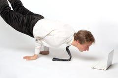 Yoga di affari! Fotografie Stock Libere da Diritti