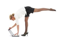 Yoga #5 di affari fotografie stock libere da diritti