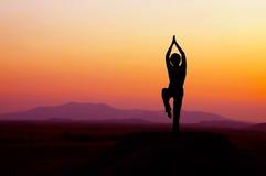 Yoga di alba Immagine Stock Libera da Diritti