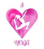 Yoga di amore dell'illustrazione I di vettore Fotografia Stock