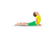Yoga di Bhudzhangasana Fotografie Stock