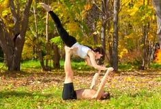 Yoga di capricci Fotografia Stock