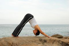 yoga di esercitazione Fotografie Stock