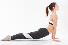Yoga di esercizio della giovane donna Fotografia Stock Libera da Diritti