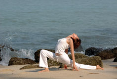 Yoga di Hatha fotografia stock libera da diritti