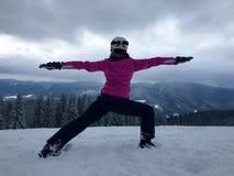 Yoga di inverno Fotografie Stock