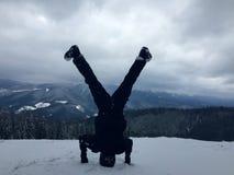 Yoga di inverno Immagini Stock Libere da Diritti
