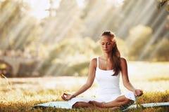 Yoga di Lotus Fotografia Stock