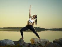 Yoga di mattina Fotografia Stock