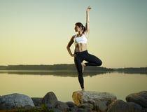 Yoga di mattina Immagini Stock