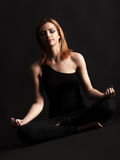 Yoga di pratica Immagine Stock Libera da Diritti