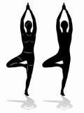 Yoga di pratica della bella giovane donna Immagine Stock Libera da Diritti