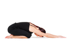 Yoga di pratica della donna Fotografia Stock