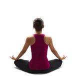 Yoga di pratica della donna asiatica Immagini Stock