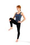 Yoga di pratica della donna sottile adatta Immagine Stock