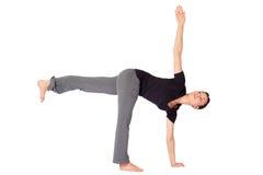 Yoga di pratica Exercice della donna adatta Immagini Stock Libere da Diritti