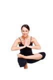 Yoga di pratica sana della giovane donna Immagine Stock