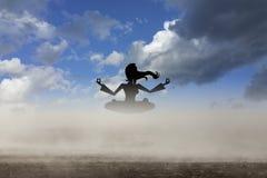 Yoga di signora fotografia stock
