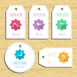 Yoga discount gift tags. Ready to use. Flat design. Vector Stock Photography