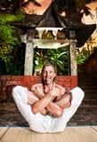 Yoga divertente fotografia stock