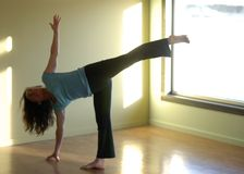 Yoga doux d'équilibre Photographie stock libre de droits