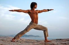 Yoga draußen. Lizenzfreie Stockfotografie