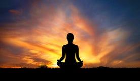 Yoga e meditazione illustrazione di stock