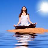 Yoga e meditazione fotografie stock